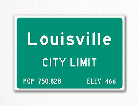 Louisville City Limit Sign Fridge Magnet