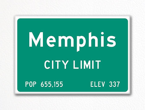 Memphis City Limit Sign Fridge Magnet