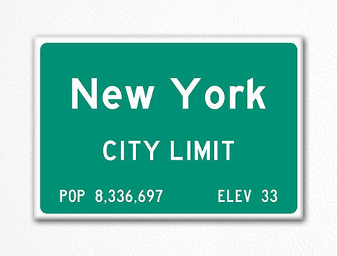 New York City Limit Sign Fridge Magnet