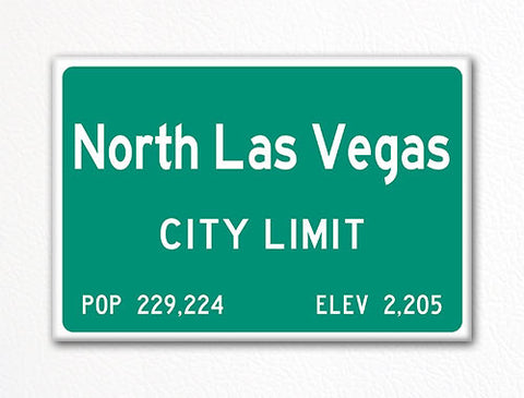 North Las Vegas City Limit Sign Fridge Magnet