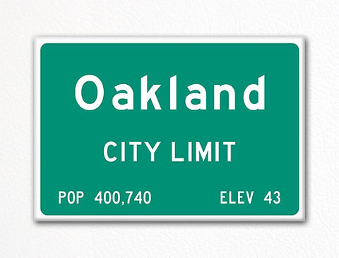 Oakland City Limit Sign Fridge Magnet