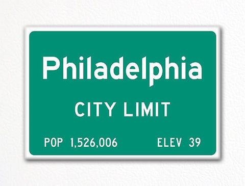 Philadelphia City Limit Sign Fridge Magnet