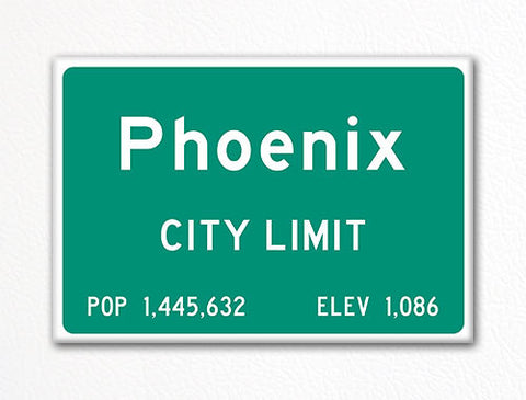 Phoenix City Limit Sign Fridge Magnet