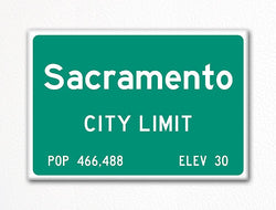 Sacramento City Limit Sign Fridge Magnet