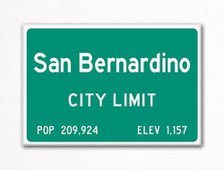 San Bernardino City Limit Sign Fridge Magnet