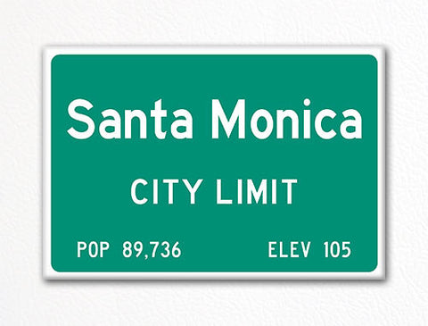 Santa Monica City Limit Sign Fridge Magnet