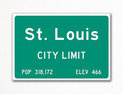 St. Louis City Limit Sign Fridge Magnet