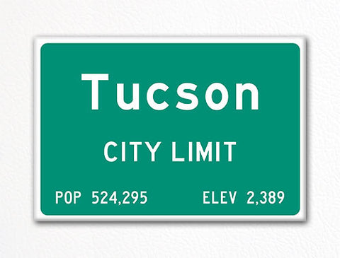 Tucson City Limit Sign Fridge Magnet