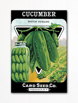 Cucumber Seed Packet Artwork Fridge Magnet