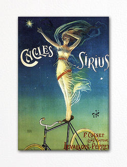 Cycles Sirius Advertising Art Fridge Magnet