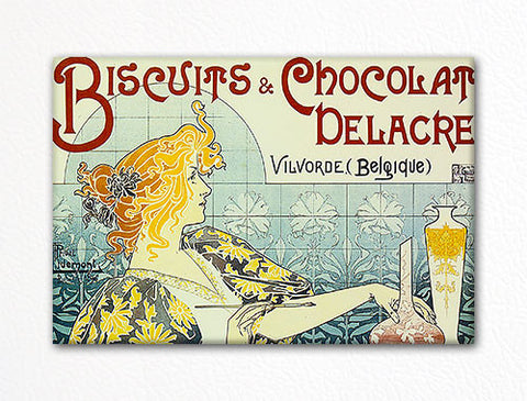 Delacre Biscuits and Chocolate Advertising Art Fridge Magnet