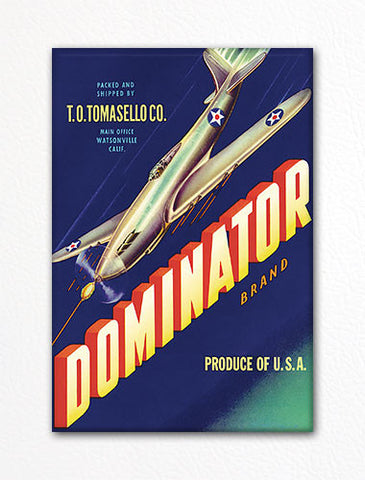 Dominator Brand Produce Label Art Fridge Magnet