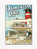 Dominion Line Vintage Travel Poster Fridge Magnet