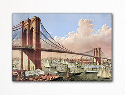 The Great East River Suspension Bridge Currier & Ives Fridge Magnet
