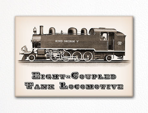 Eight Coupled Tank Locomotive Fridge Magnet