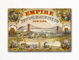 Empire Sewing Machine Company Advertisement Fridge Magnet