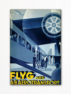 FLYG Aerotransport Vintage Poster Fridge Magnet