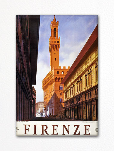 Florence Italy Firenze Advertising Poster Artwork Fridge Magnet