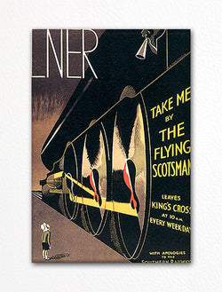 Flying Scotsman London Vintage Poster Artwork Fridge Magnet