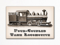 Four Coupled Tank Locomotive Fridge Magnet