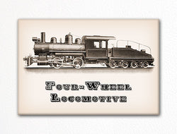 Four Wheel Locomotive Fridge Magnet