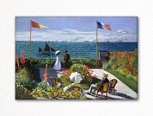 Garden at Sainte Adresse Claude Monet Painting Fridge Magnet