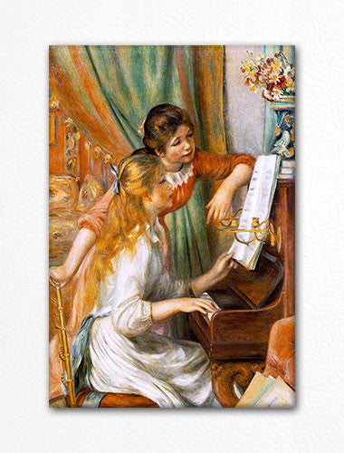 Girls at the Piano Renoir Painting Fridge Magnet