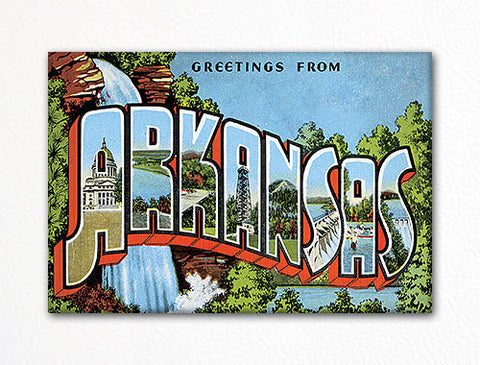Greetings from Arkansas Fridge Magnet