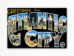 Greetings From Atlantic City Fridge Magnet