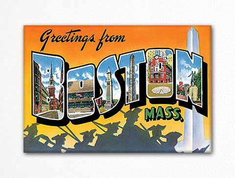 Greetings from Boston Massachusetts Fridge Magnet
