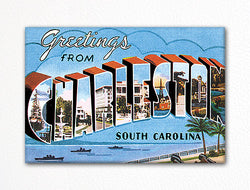 Greetings from Charleston South Carolina Fridge Magnet