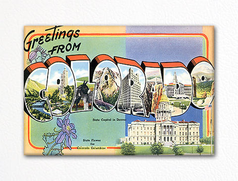 Greetings from Colorado Fridge Magnet