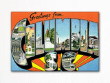 Greetings from Columbia South Carolina Fridge Magnet