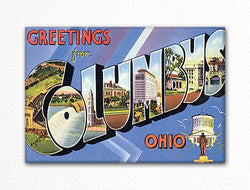 Greetings from Columbus Ohio Fridge Magnet