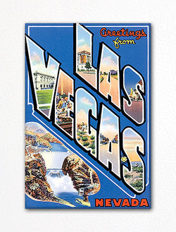 Greetings from Las Vegas Nevada Fridge Magnet