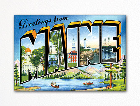 Greetings from Maine Fridge Magnet