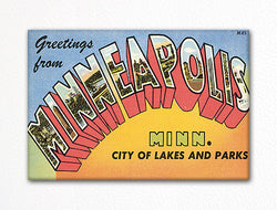 Greetings from Minneapolis Minnesota Fridge Magnet