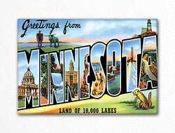 Greetings from Minnesota Fridge Magnet
