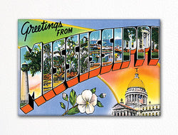 Greetings from Mississippi Fridge Magnet