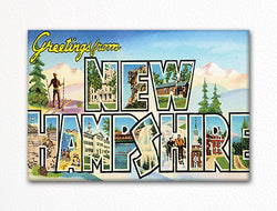 Greetings from New Hampshire Fridge Magnet