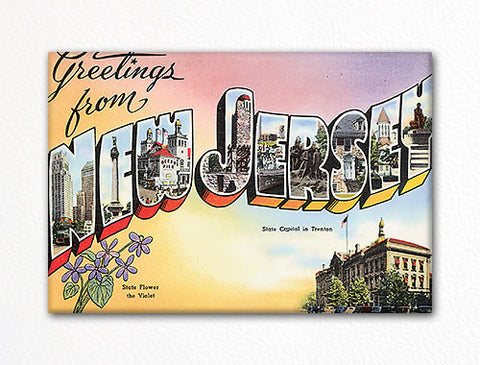 Greetings from New Jersey Fridge Magnet