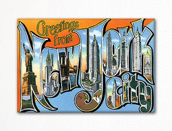 Greetings from New York City Fridge Magnet