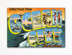 Greetings from Ocean City New Jersey Fridge Magnet