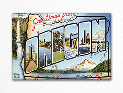 Greetings from Oregon Fridge Magnet