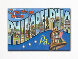 Greetings from Philadelphia Pennsylvania Fridge Magnet