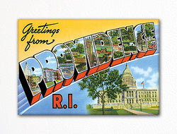 Greetings from Providence Rhode Island Fridge Magnet