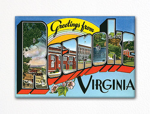 Greetings from Roanoke Virginia Fridge Magnet