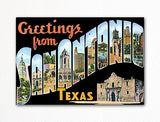 Greetings from San Antonio Texas Fridge Magnet