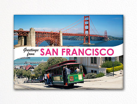 Greetings from San Francisco Photo Fridge Magnet