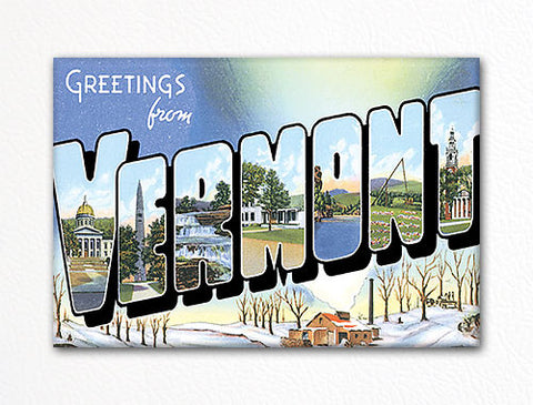 Greetings from Vermont Fridge Magnet